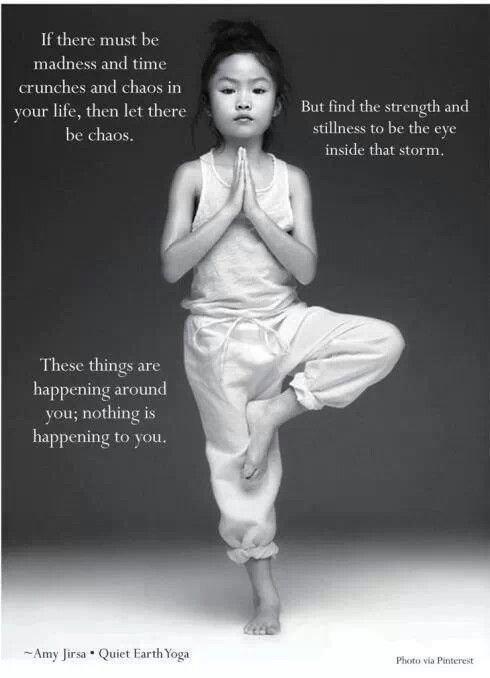 Girl in Yoga Position